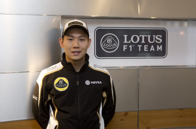 Adderly Fong, Lotus development driver. Copyright: Lotus F1 Team