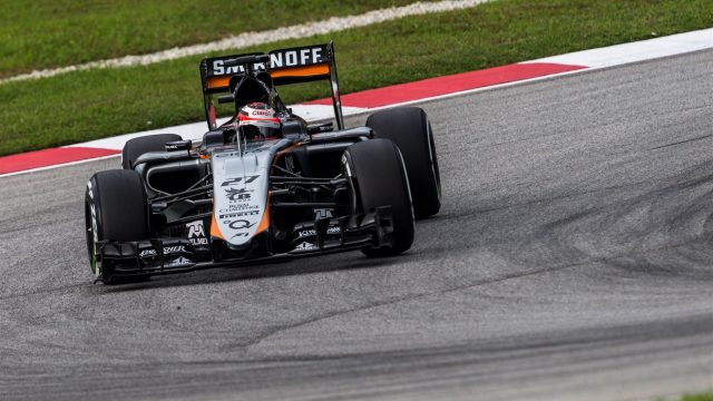 Nico Hulkenberg (GER) Force India VJM08 at Formula One World Championship, Rd2, Malaysian Grand Prix, Qualifying, Sepang, Malaysia, Saturday 28  March 2015. &copy&#x3b; Sutton Motorsport Images