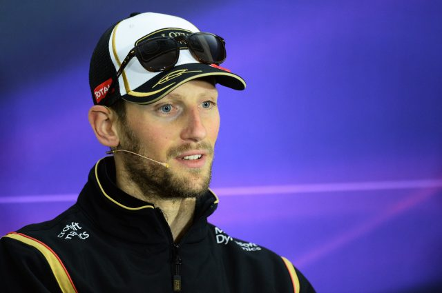 Romain Grosjean (FRA) Lotus F1 in the Press Conference at Formula One World Championship, Rd3, Chinese Grand Prix, Preparations, Shanghai, China, Thursday 9 April 2015. &copy&#x3b; Sutton Motorsport Images