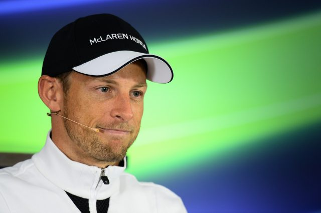 Jenson Button (GBR) McLaren in the Press Conference at Formula One World Championship, Rd3, Chinese Grand Prix, Preparations, Shanghai, China, Thursday 9 April 2015. &copy&#x3b; Sutton Motorsport Images