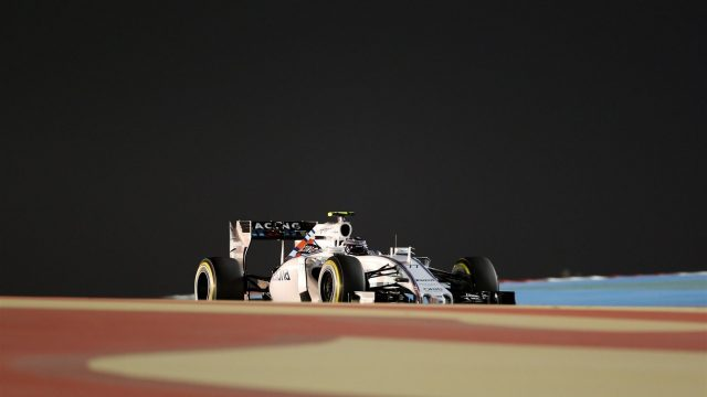 Valtteri Bottas (FIN) Williams FW37 at Formula One World Championship, Rd4, Bahrain Grand Prix Practice, Bahrain International Circuit, Sakhir, Bahrain, Friday 17 April 2015. &copy&#x3b; Sutton Motorsport Images
