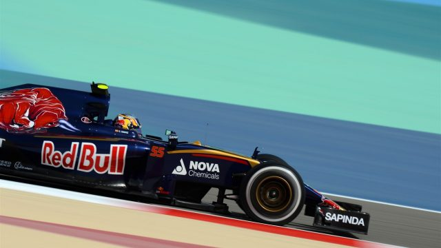 Carlos Sainz jr (ESP) Scuderia Toro Rosso STR10 at Formula One World Championship, Rd4, Bahrain Grand Prix Practice, Bahrain International Circuit, Sakhir, Bahrain, Friday 17 April 2015. &copy&#x3b; Sutton Motorsport Images