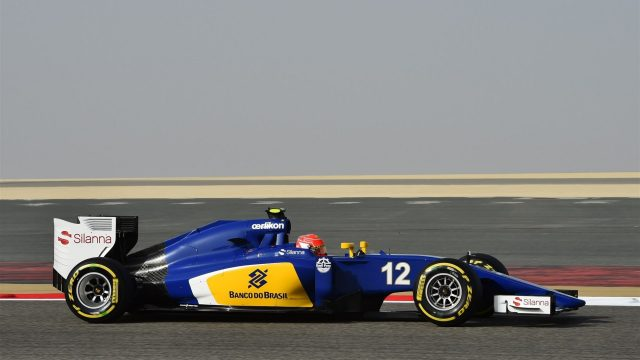 Felipe Nasr (BRA) Sauber C34 at Formula One World Championship, Rd4, Bahrain Grand Prix Qualifying, Bahrain International Circuit, Sakhir, Bahrain, Saturday 18  April 2015. &copy&#x3b; Sutton Motorsport Images