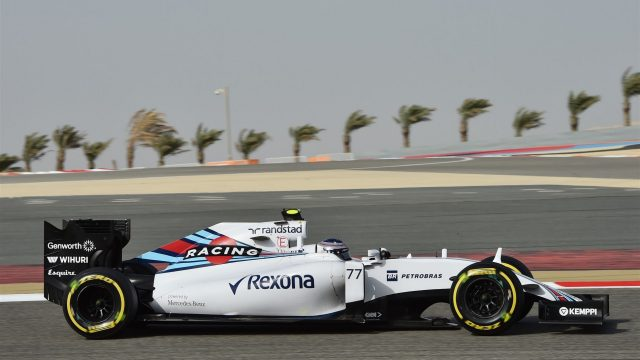 Valtteri Bottas (FIN) Williams FW37 at Formula One World Championship, Rd4, Bahrain Grand Prix Qualifying, Bahrain International Circuit, Sakhir, Bahrain, Saturday 18  April 2015. &copy&#x3b; Sutton Motorsport Images