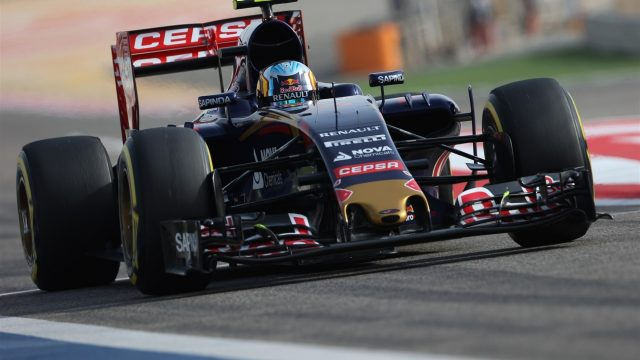 Carlos Sainz jr (ESP) Scuderia Toro Rosso STR10 at Formula One World Championship, Rd4, Bahrain Grand Prix Qualifying, Bahrain International Circuit, Sakhir, Bahrain, Saturday 18  April 2015. &copy&#x3b; Sutton Motorsport Images