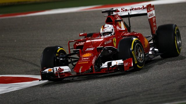Sebastian Vettel (GER) Ferrari SF15-T at Formula One World Championship, Rd4, Bahrain Grand Prix Qualifying, Bahrain International Circuit, Sakhir, Bahrain, Saturday 18  April 2015. &copy&#x3b; Sutton Motorsport Images