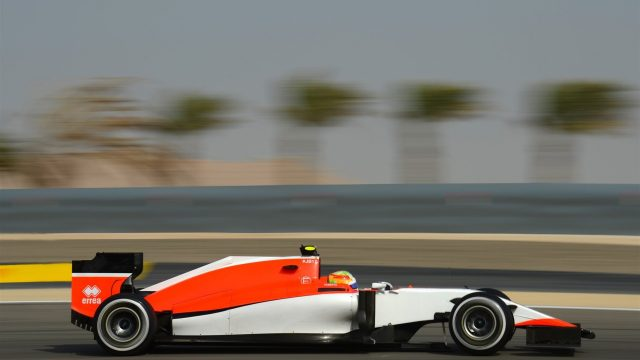 Roberto Merhi (SPA) Marussia at Formula One World Championship, Rd4, Bahrain Grand Prix Qualifying, Bahrain International Circuit, Sakhir, Bahrain, Saturday 18  April 2015. &copy&#x3b; Sutton Motorsport Images
