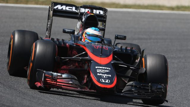 Fernando Alonso (ESP) McLaren MP4-30 at Formula One World Championship, Rd5, Spanish Grand Prix Practice, Barcelona, Spain, Friday 8 May 2015. &copy&#x3b; Sutton Motorsport Images