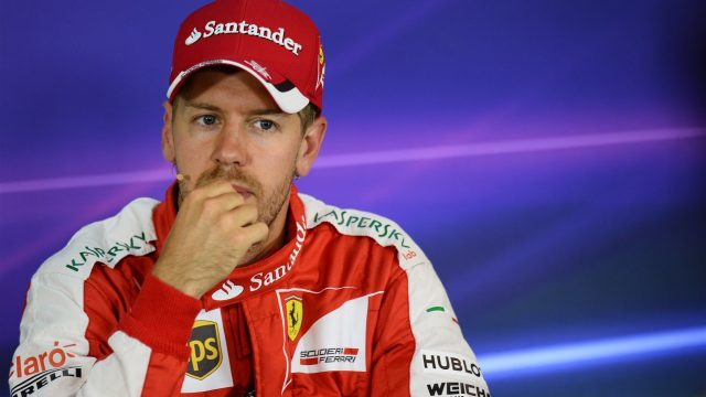 Sebastian Vettel (GER) Ferrari during the Qualifying Press Conference at Formula One World Championship, Rd8, Austrian Grand Prix, Qualifying, Spielberg, Austria, Saturday 20 June 2015. &copy&#x3b; Sutton Motorsport Images