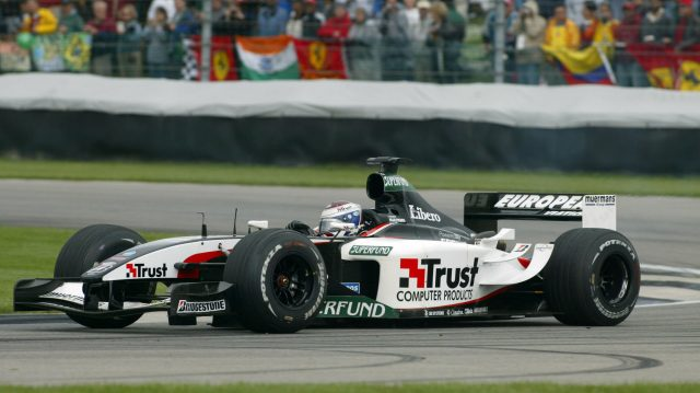Jos Verstappen raced a Minardi-Cosworth PS03 in 2003 - his final year of Grand Prix racing. © Sutton Motorsport Images