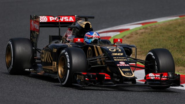 Jolyon Palmer (GBR) Lotus E23 Hybrid at Formula One Testing, Day One, Barcelona, Spain, 12 May 2015. &copy&#x3b; Sutton Motorsport Images