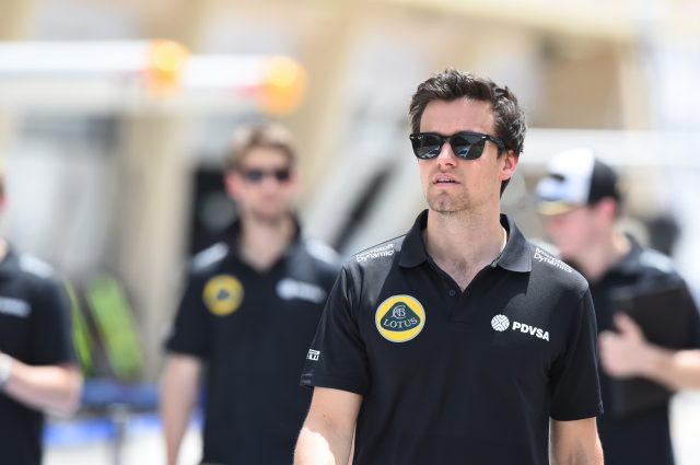 Jolyon Palmer (GBR) Lotus Test and Reserve Driver at Formula One World Championship, Rd4, Bahrain Grand Prix Preparations, Bahrain International Circuit, Sakhir, Bahrain, Thursday 16  April 2015. &copy&#x3b; Sutton Motorsport Images
