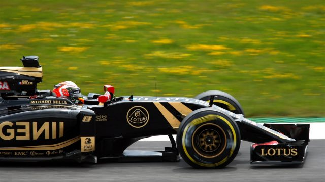 Romain Grosjean (FRA) Lotus E23 Hybrid at Formula One World Championship, Rd8, Austrian Grand Prix, Qualifying, Spielberg, Austria, Saturday 20 June 2015. &copy&#x3b; Sutton Motorsport Images