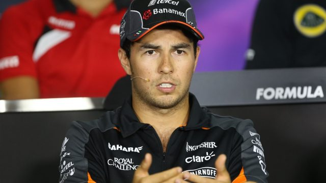 Sergio Perez (MEX) Force India in the press conference at Formula One World Championship, Rd10, Hungarian Grand Prix, Preparations, Hungaroring, Hungary, Thursday 23 July 2015. &copy&#x3b; Sutton Motorsport Images