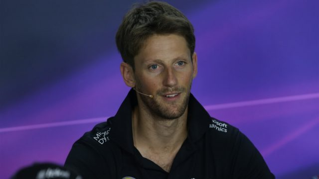 Romain Grosjean (FRA) Lotus F1 in the press conference at Formula One World Championship, Rd10, Hungarian Grand Prix, Preparations, Hungaroring, Hungary, Thursday 23 July 2015. &copy&#x3b; Sutton Motorsport Images