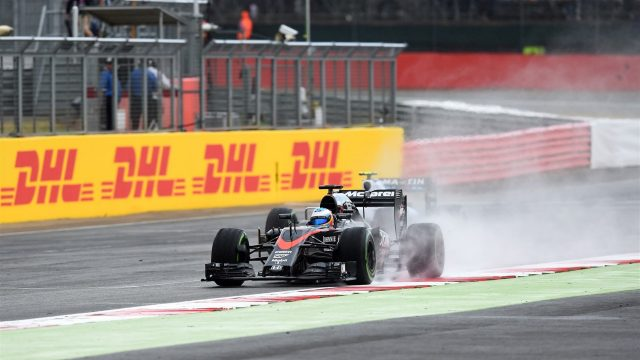 Fernando Alonso (ESP) McLaren MP4-30 at Formula One World Championship, Rd9, British Grand Prix, Race, Silverstone, England, Sunday 5 July 2015. &copy&#x3b; Sutton Motorsport Images