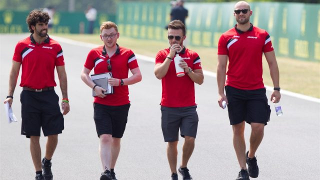 Will Stevens (GBR) Marussia walks the track at Formula One World Championship, Rd10, Hungarian Grand Prix, Preparations, Hungaroring, Hungary, Thursday 23 July 2015. &copy&#x3b; Sutton Motorsport Images