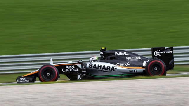 Sergio Perez (MEX) Force India VJM08 at Formula One World Championship, Rd8, Austrian Grand Prix, Qualifying, Spielberg, Austria, Saturday 20 June 2015. &copy&#x3b; Sutton Motorsport Images