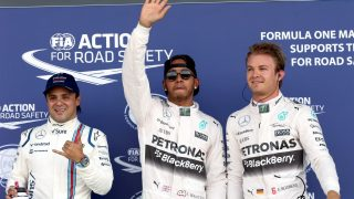 Qualifying - Hamilton beats Rosberg to British pole
