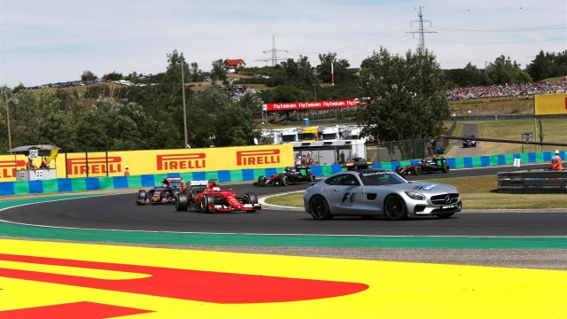 Safety Car leads out the cars at Formula One World Championship, Rd10, Hungarian Grand Prix, Race, Hungaroring, Hungary, Sunday 26 July 2015. &copy&#x3b; Sutton Motorsport Images