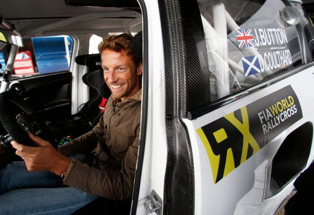 McLaren's Jenson Button samples a JRM Racing-prepared MINI RX Supercar at the UK's Lydden Hill circuit, home to the British round of the FIA World Rallycross Championship &copy&#x3b; FIA World Rallycross Championship