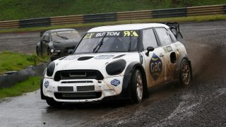 Button revels in rallycross outing