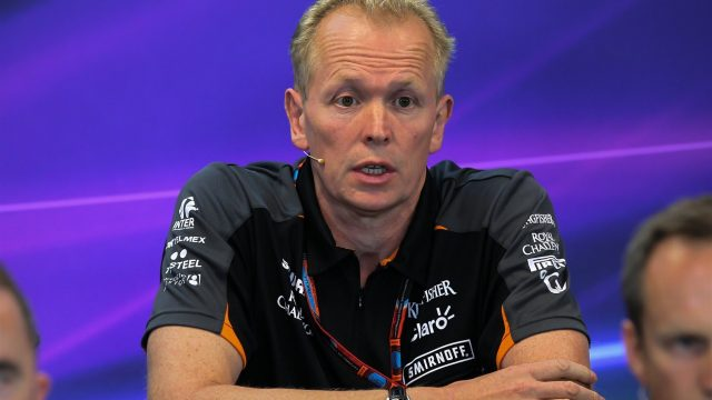 Andrew Green (GBR) Force India Technical Director in the Press Conference at Formula One World Championship, Rd11, Belgian Grand Prix, Practice, Spa Francorchamps, Belgium, Friday 21 August 2015. &copy&#x3b; Sutton Motorsport Images