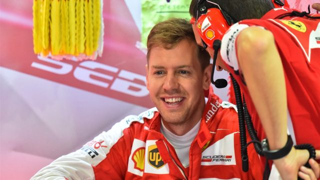 Sebastian Vettel (GER) Ferrari at Formula One World Championship, Rd14, Japanese Grand Prix, Practice, Suzuka, Japan, Friday 25 September 2015. &copy&#x3b; Sutton Motorsport Images