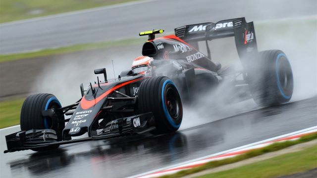 Jenson Button (GBR) McLaren MP4-30 at Formula One World Championship, Rd14, Japanese Grand Prix, Practice, Suzuka, Japan, Friday 25 September 2015. &copy&#x3b; Sutton Motorsport Images