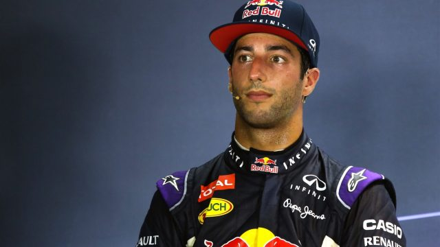 Daniel Ricciardo (AUS) Red Bull Racing in the press conference at Formula One World Championship, Rd13, Singapore Grand Prix, Qualifying, Marina Bay Street Circuit, Singapore, Saturday 19  September 2015. &copy&#x3b; Sutton Motorsport Images