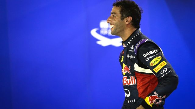 Daniel Ricciardo (AUS) Red Bull Racing in parc ferme at Formula One World Championship, Rd13, Singapore Grand Prix, Qualifying, Marina Bay Street Circuit, Singapore, Saturday 19  September 2015. &copy&#x3b; Sutton Motorsport Images