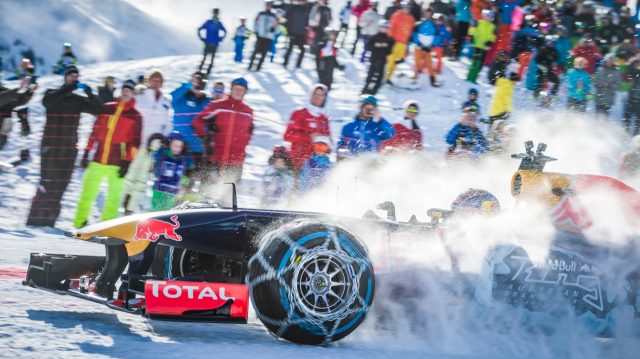 Max Verstappen performs during the F1 Showrun at the Hahnenkamm in Kitzbuhel, Austria on Jannuary 14, 2016. &copy&#x3b; Philip Platzer/Red Bull Content Pool
