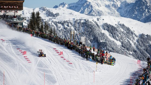 Max Verstappen performs during the F1 Showrun at the Hahnenkamm in Kitzbuhel, Austria on January 14, 2016. &copy&#x3b; Samo Vidic/Red Bull Content Pool