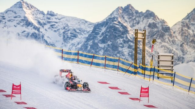 Max Verstappen performs during the F1 Showrun at the Hahnenkamm in Kitzbuehel, Austria on Jannuary 14, 2016. &copy&#x3b; Philip Platzer/Red Bull Content Pool