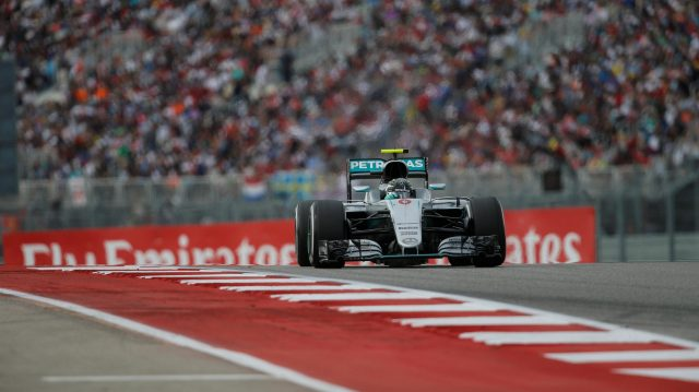 Nico Rosberg (GER) Mercedes-Benz F1 W07 Hybrid at Formula One World Championship, Rd18, United States Grand Prix, Race, Circuit of the Americas, Austin, Texas, USA, Sunday 23 October 2016. &copy&#x3b; Sutton Images