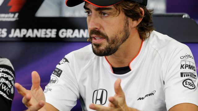 Fernando Alonso (ESP) McLaren in the Press Conference at Formula One World Championship, Rd17, Japanese Grand Prix, Preparations, Suzuka, Japan, Thursday 6 October 2016. &copy&#x3b; Sutton Images