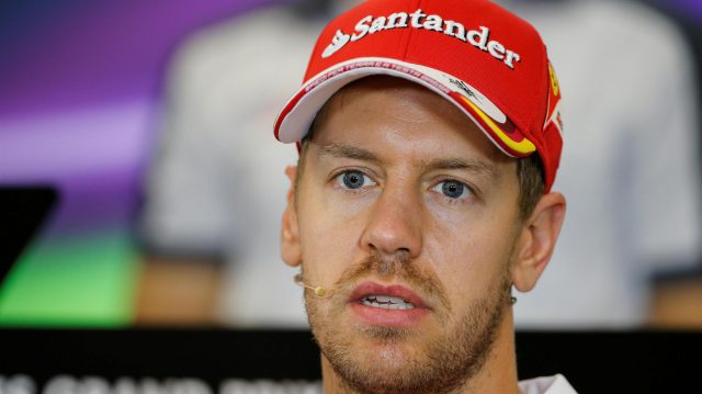 Sebastian Vettel (GER) Ferrari in the Press Conference at Formula One World Championship, Rd18, United States Grand Prix, Preparations, Circuit of the Americas, Austin, Texas, USA, Thursday 20 October 2016. &copy&#x3b; Sutton Images