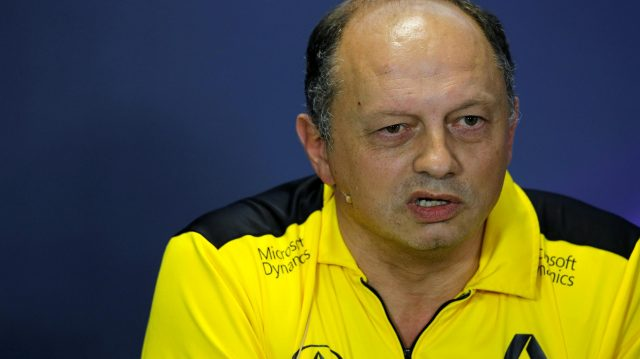 Frederic Vasseur (FRA) Renault Sport F1 Team Racing Director in the Press Conference at Formula One World Championship, Rd20, Brazilian Grand Prix, Practice, Interlagos, Sao Paulo, Brazil, Friday 11 November 2016. &copy&#x3b; Sutton Images