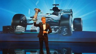 Rosberg and Mercedes collect championship trophies