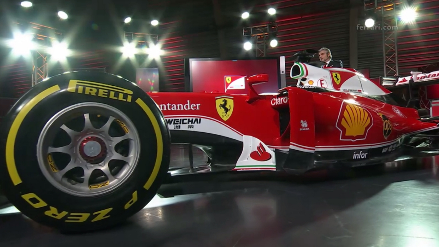 Ferrari present the SF16-H - in red and white