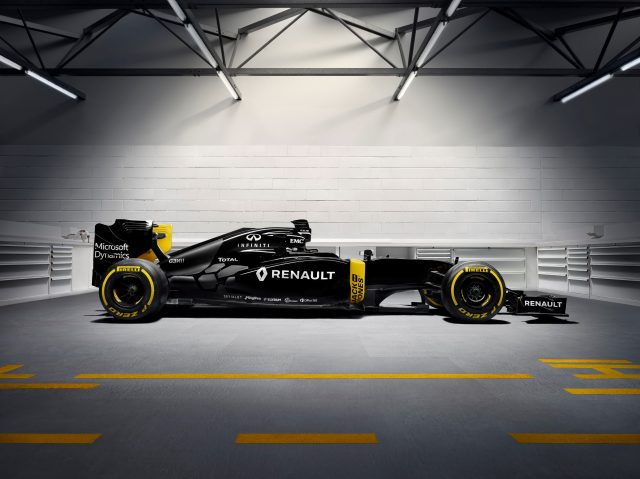 Renault Sport F1 Team RS16 at Renault F1 Launch, Renault Technocentre, Guyancourt, France, 3 February 2016. &copy&#x3b; Sutton Motorsport Images