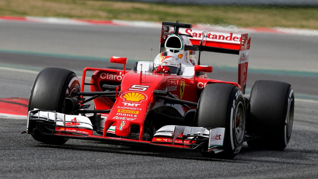 Vettel%20fastest%20for%20Ferrari%20on%20first%20morning%20of%20testing