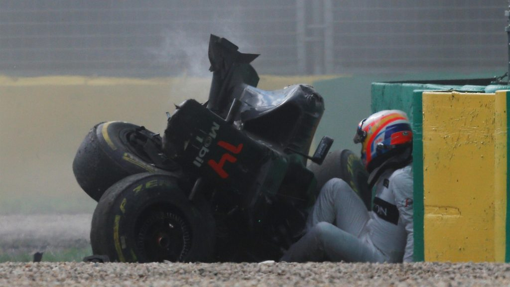 Alonso Accident
