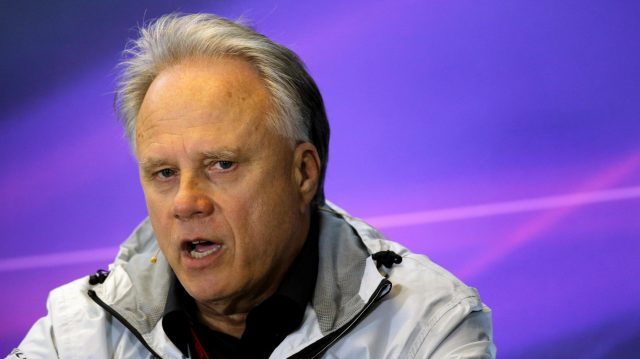 Gene Haas (USA) Founder and Chairman, Haas F1 Team in the press conference at Formula One World Championship, Rd1, Australian Grand Prix, Practice, Albert Park, Melbourne, Australia, Friday 18 March 2016. &copy&#x3b; Sutton Motorsport Images
