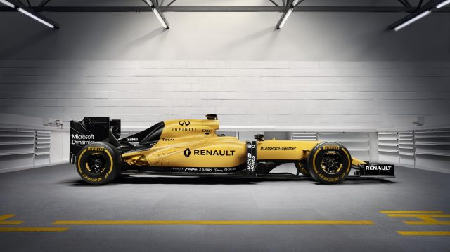 renault reveal yellow race livery for 2016. Black Bedroom Furniture Sets. Home Design Ideas