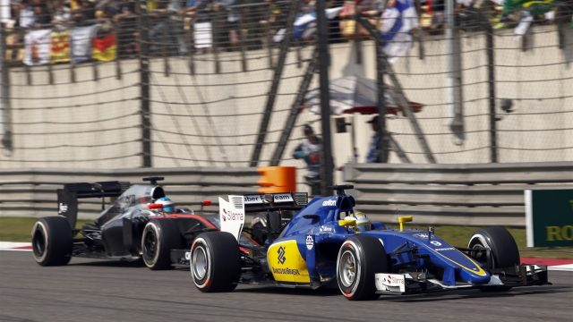 Marcus Ericsson (SWE) Sauber C34 at Formula One World Championship, Rd3, Chinese Grand Prix, Race, Shanghai, China, Sunday 12 April 2015. &copy&#x3b; Sutton Motorsport Images