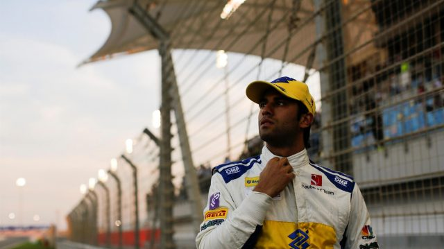 Felipe Nasr (BRA) Sauber on the grid at Formula One World Championship, Rd2, Bahrain Grand Prix Race, Bahrain International Circuit, Sakhir, Bahrain, Sunday 3 April 2016. &copy&#x3b; Sutton Motorsport Images
