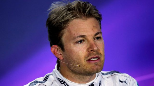 Nico Rosberg (GER) Mercedes AMG F1 in the press conference at Formula One World Championship, Rd2, Bahrain Grand Prix Race, Bahrain International Circuit, Sakhir, Bahrain, Sunday 3 April 2016. &copy&#x3b; Sutton Motorsport Images