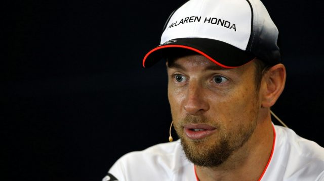 Jenson Button (GBR) McLaren in the Press Conference at Formula One World Championship, Rd4, Russian Grand Prix, Preparations, Sochi Autodrom, Sochi, Krasnodar Krai, Russia, Thursday 28 April 2016. &copy&#x3b; Sutton Motorsport Images