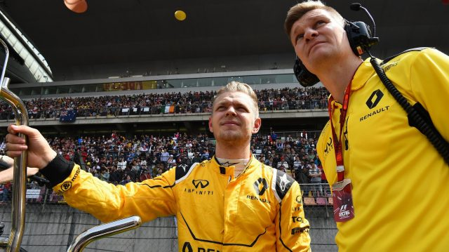 Kevin Magnussen (DEN) Renault Sport F1 Team on the grid at Formula One World Championship, Rd3, Chinese Grand Prix, Race, Shanghai, China, Sunday 17 April 2016. &copy&#x3b; Sutton Motorsport Images
